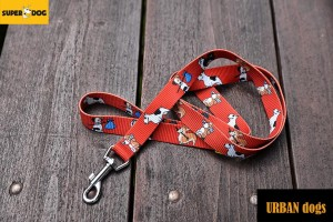 Smycz Urban dogs - dogs(red)