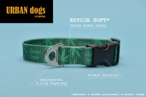 Obroża  Urban dogs - Green team (soft edition)