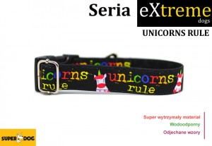 Obroża dla psa: unicorns rule