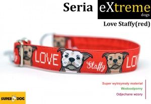 Love Staffy-red